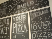 Build Pizzeria BlackboardSign