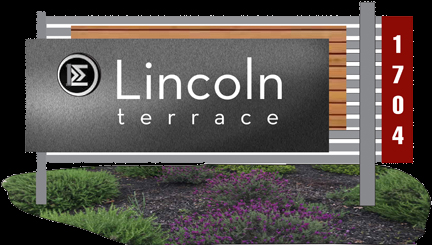 Lincoln apartment sign