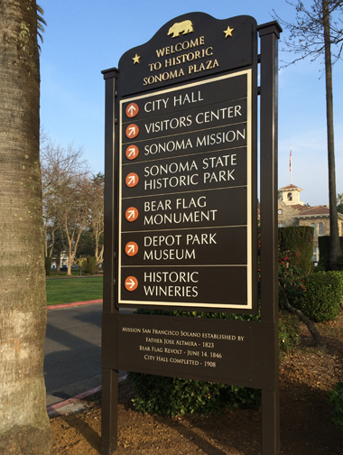 Sonoma wayfinding sign