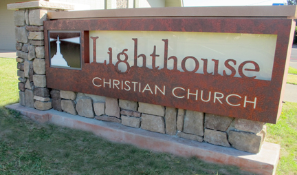 Sonoma sign Lighthouse Church