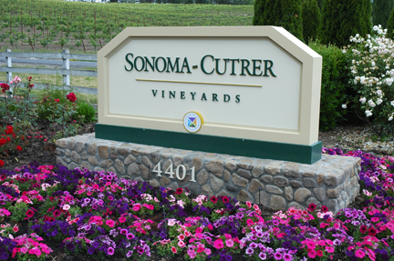 Sonoma Cutrer Winery Entrance Sign